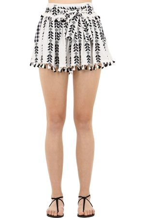DODO BAR OR Cotton Jacquard & Lace Skirt W/ Tassels