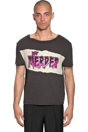 Maison Margiela Printed Raw Cut Cotton Jersey T-shirt