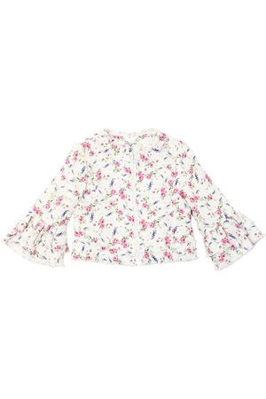 MONNALISA Rose Printed Tweed Jacket