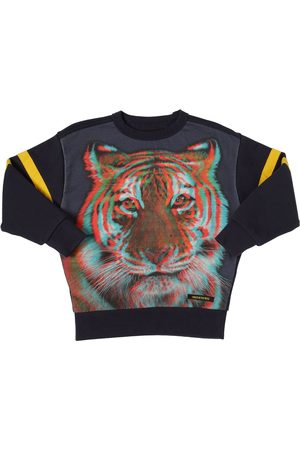 Finger in the Nose 3d Tiger Print Cotton Sweatshirt