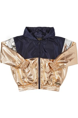Finger in the Nose Hooded Metallic Nylon Jacket