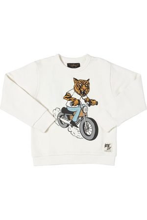 Finger in the Nose Tiger Print Cotton Sweatshirt