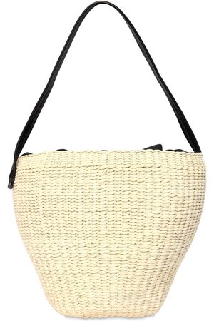 SENSI STUDIO Medium Straw Shoulder Bag