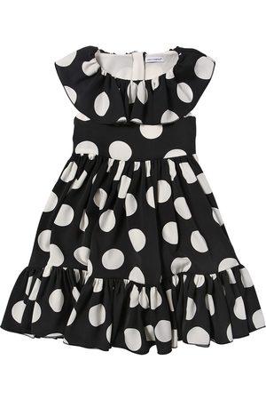 Dolce & Gabbana Dot Print Silk Blend Dress