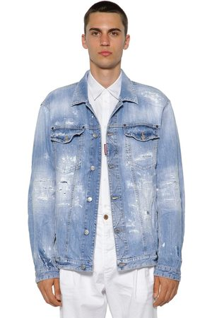 Dsquared2 Oversized Cotton Denim Jacket