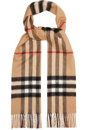 Burberry Giant Checked-cashmere Scarf - Womens
