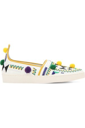 Aquazzura Faux Leather Slip-on Sneakers