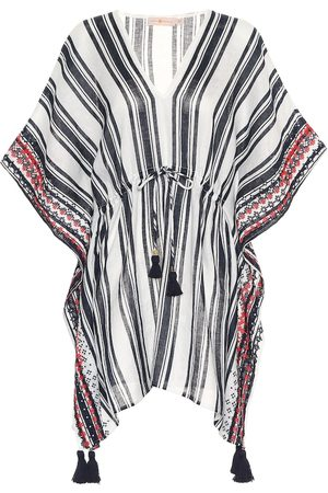 Tory Burch Striped linen cover-up