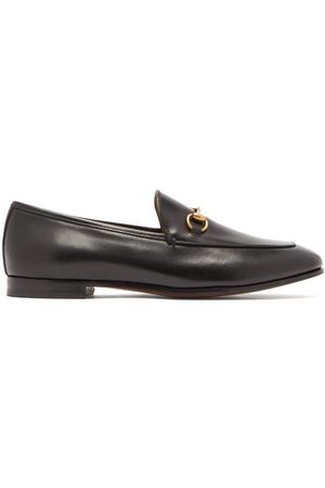Gucci Jordaan Leather Loafers - Womens