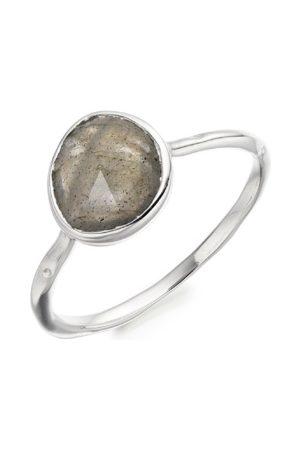 Monica Vinader Sterling Silver Siren Stacking Ring Labradorite