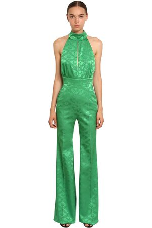 Mary Katrantzou Long Butterfly Jacquard Jumpsuit
