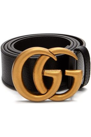 Gucci Men Belts - GG Textured-leather Belt - Mens