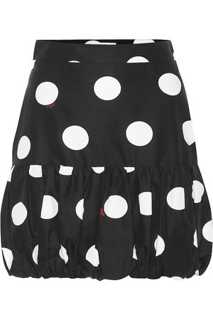 Msgm Polka-dot cotton miniskirt