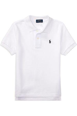 Ralph Lauren Boys Polo Shirts - Polo Boys' Solid Mesh Polo Shirt - Little Kid