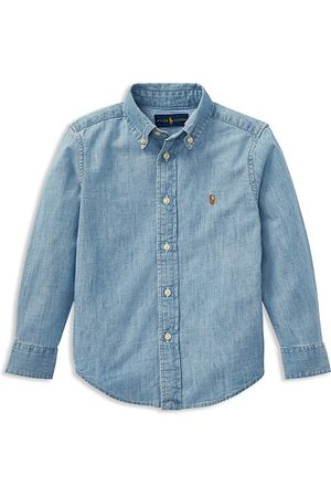 Ralph Lauren Boys Shirts - Boys' Chambray Button-Down Shirt - Little Kid