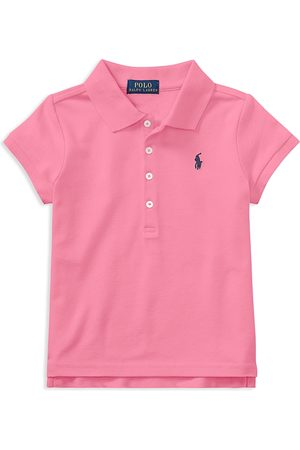 Ralph Lauren Polo Girls' Mesh Knit Polo - Little Kid