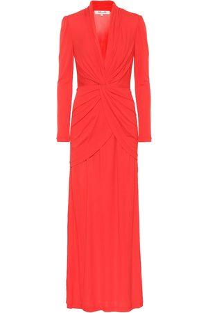 Diane von Furstenberg Stacia crêpe maxi dress