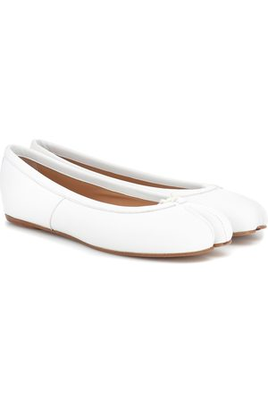 Maison Margiela Women Ballerinas - Tabi leather ballerinas