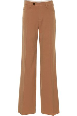 Chloé High-rise wool-blend pants