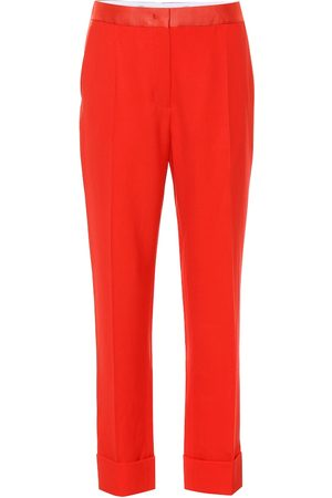 Joseph High-rise straight wool pants