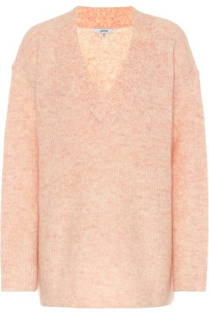 Ganni Wool and mohair-blend sweater