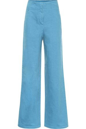 tibi High-rise wide-leg jeans