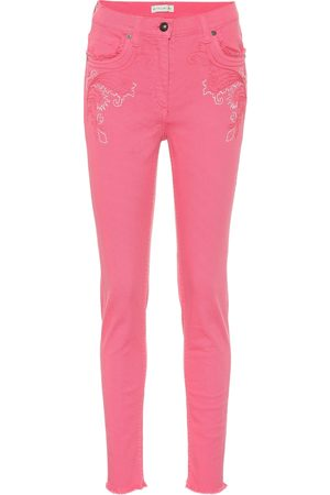 Etro Embroidered high-rise jeans