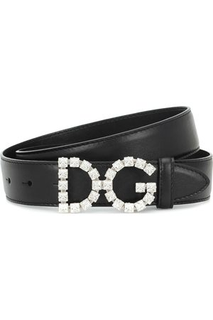 Dolce & Gabbana Embellished DG leather belt