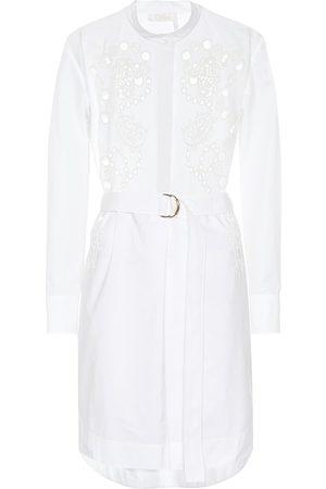 Chloé Eyelet lace cotton shirt dress