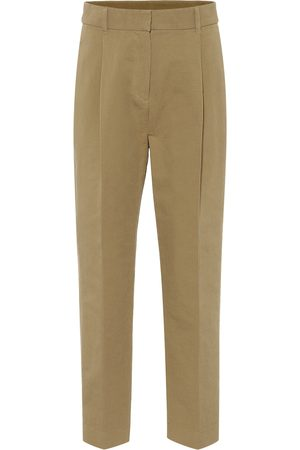 Chloé Women Straight Leg Pants - High-rise cotton straight pants