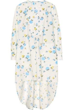 Golden Goose Asymmetric floral cotton dress