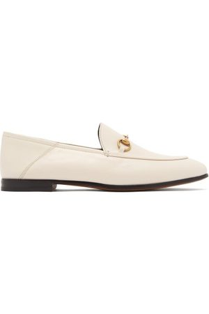 Gucci Women Heels - Brixton Collapsible-heel Leather Loafers - Womens