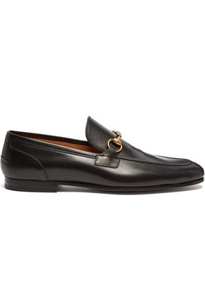 Gucci Jordaan Horsebit Leather Loafers - Mens