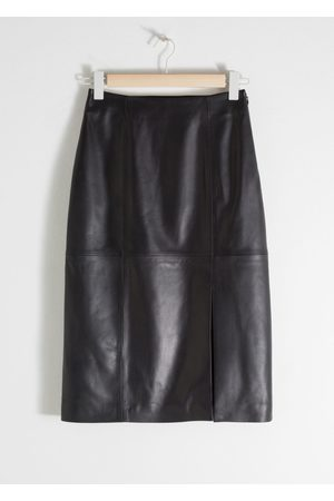 & OTHER STORIES Midi Leather Pencil Skirt