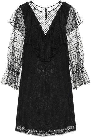 Chloé Lace and cotton-blend dress