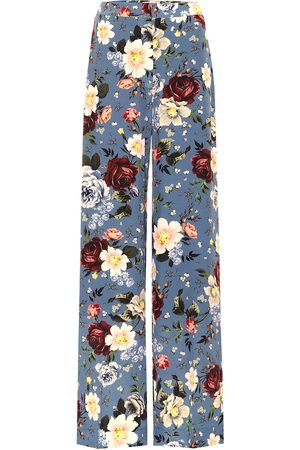 Erdem High-rise wide-leg silk pants
