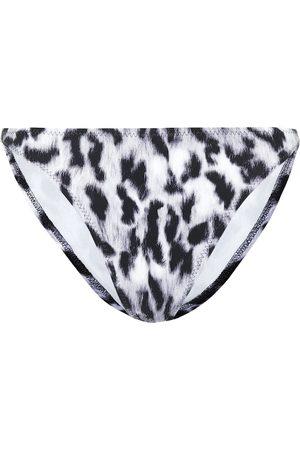 Norma Kamali Luca leopard-print bikini bottoms