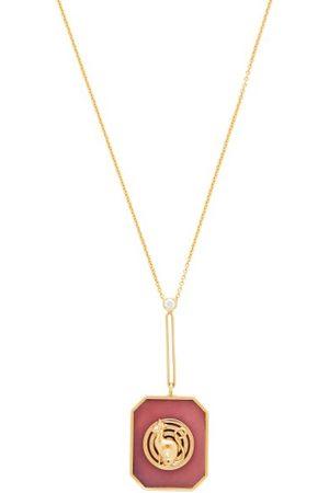 Retrouvai Lucky Token Diamond, Opal & Gold Necklace - Womens