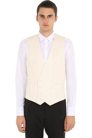 LARDINI Double Breasted Cotton Blend Vest
