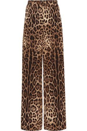 Dolce & Gabbana Leopard print crêpe pants