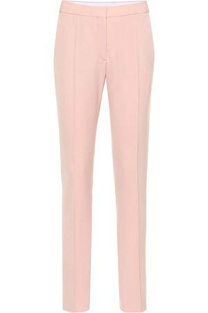Stella McCartney Women Skinny Pants - Mid-rise wool slim pants