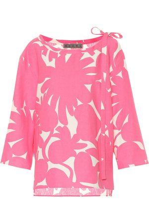 Marni Printed linen-blend shirt