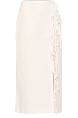 BROCK COLLECTION Lace-up cotton midi skirt