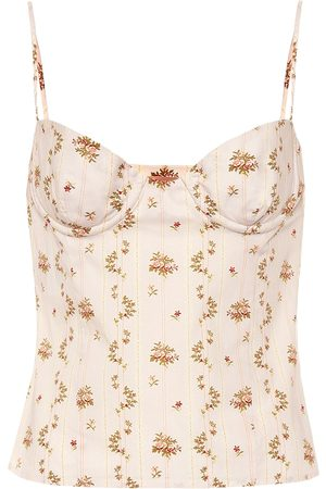BROCK COLLECTION Floral-printed cotton top