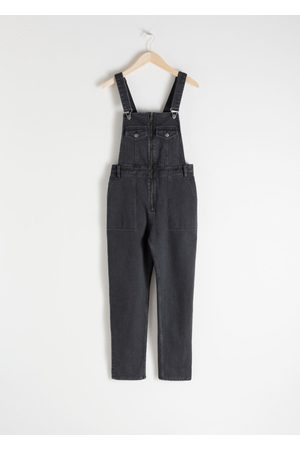 & OTHER STORIES Organic Cotton Denim Overalls - Grey