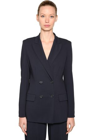 Max Mara Wool Blend Stretch Jersey Blazer