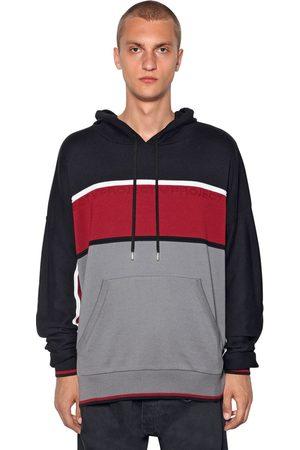Y / PROJECT Color Block Knit Sweatshirt Hoodie