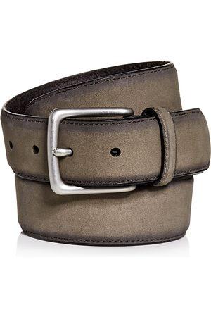 AllSaints Men Belts - Nubuck Leather Belt
