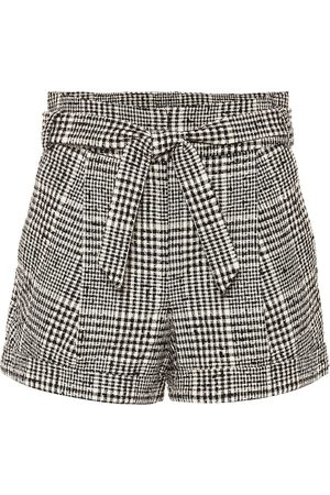 VERONICA BEARD Michel belted tweed shorts