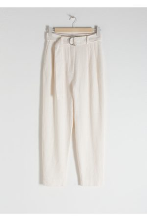 & OTHER STORIES Belted Tapered Trousers
